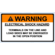 NEC 2017 Compliant Label: Warning - Electrical Shock Hazard