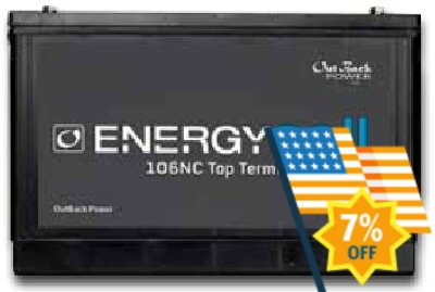 Outback Power EnergyCell 106NC Nano-Carbon 100Ah Battery
