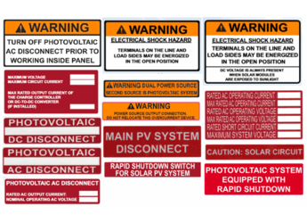 Nec 2017 Compliant Grid Tie Solar Label Kit Alte