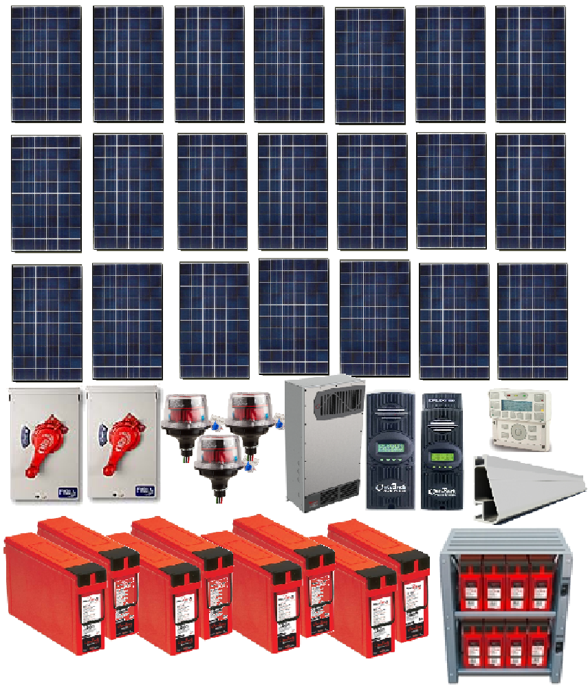 Grid Tied 6 5kW Home Solar System with Battery Backup