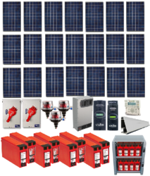 Grid-Tied 6.5kW Residential Home Solar System with Battery Backup