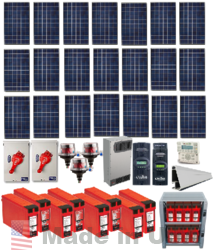 Grid Tied 6 3kw Home Solar System With Battery Backup Alte