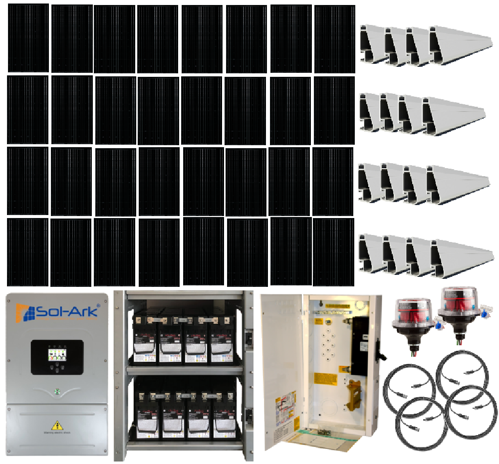 Grid-Tied 9 6kW Home Solar System with Battery Backup