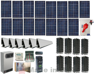 Grid Tied 4kW Home Solar System with Battery Backup | altE