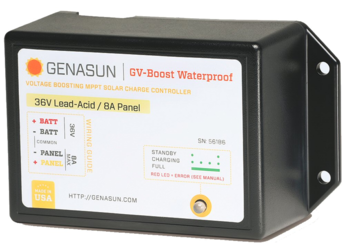 Genasun 8A 48V MPPT Boost Charge Controller for Golf Carts