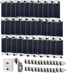 Grid-Tie 10.8kW Solar Power System with SolarEdge Inverter
