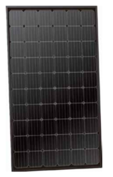 HT-SAAE 310 Watt Solar Panel, Black