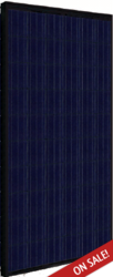 Hanwah Solar 235 Watt Poly Solar Panel, Black Frame