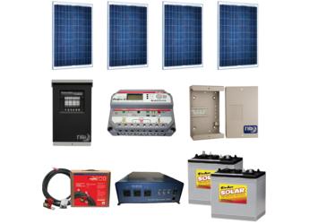 Off-Grid Cabin package 3 - 240W - SolarWorld Modules