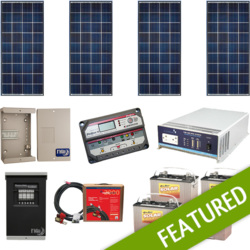 Off-Grid 560W Cabin Solar Power System 1