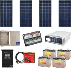 Off Grid 560w Cabin Solar Power System Alte