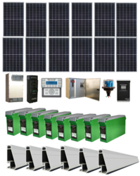 Grid-Tied 3.6kW Residential Home Solar System with Battery Backup