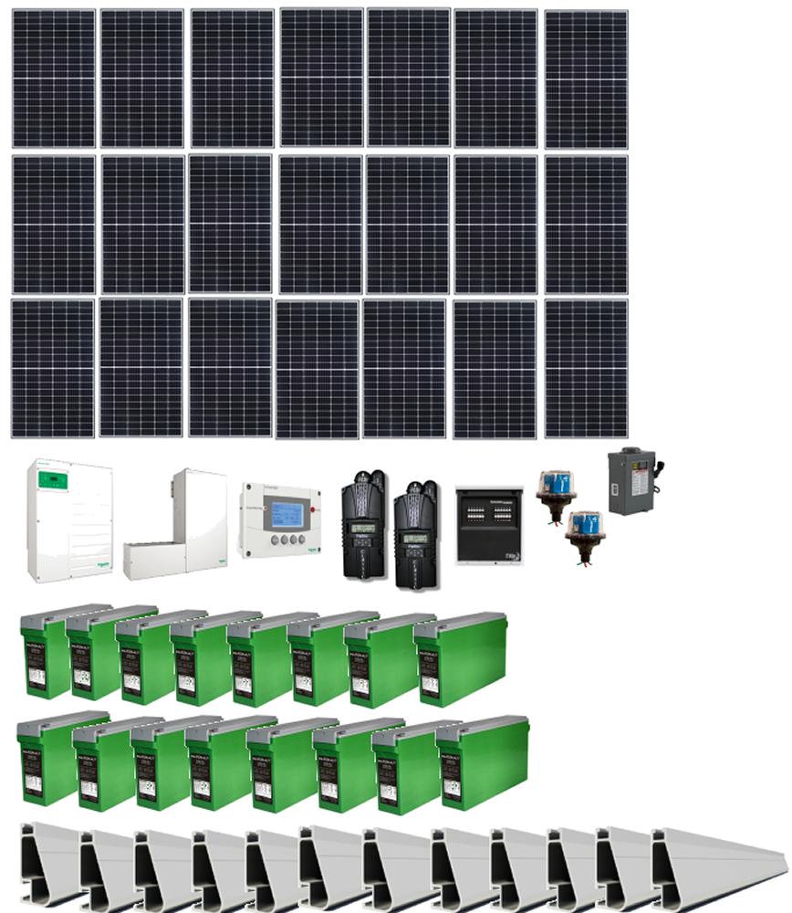 6 4kw Grid Tie Home Solar Kit With Battery Backup Alte