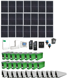 Grid-Tied 6.4kW Residential Home Solar System with Battery Backup