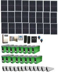 Grid-Tied 7.3kW Residential Home Solar System with Battery Backup