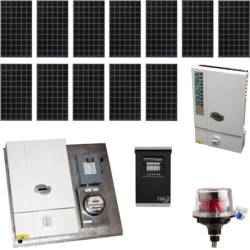 AltE Grid Tied Package System F, 3kW - Kyocera Modules, Solectria Inverter