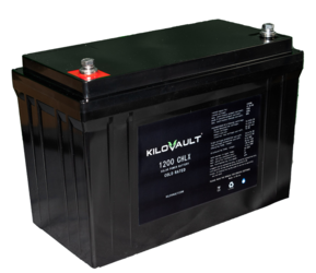 KiloVault 1200 HLX 1200Wh 100 Ah 12V Lithium Solar Battery- Cold Rated