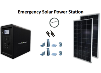 KiloVault Emergency Solar Power Station RESQ Unit - Puerto Rico