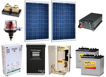 AltE Off Grid Solar Cabin Package - 170W