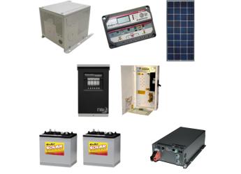 AltE Off Grid Solar Cabin Package - 140W