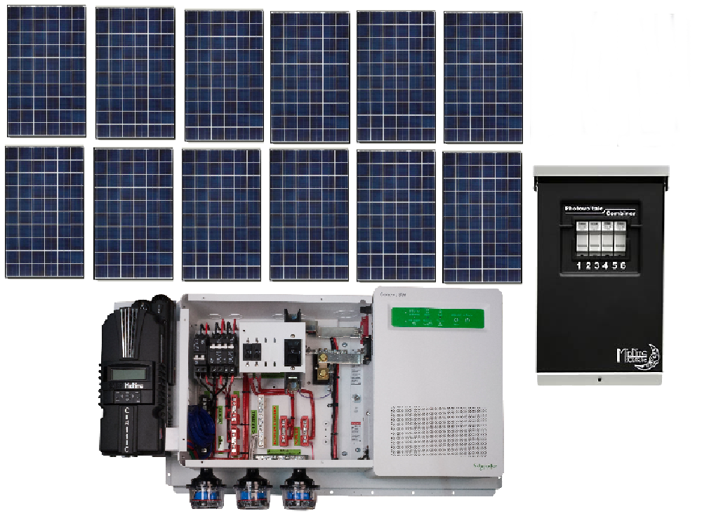 Off Grid 3 6kw Residential Solar Power System Alte