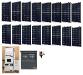 Off Grid 4 8kW Residential Solar Power System