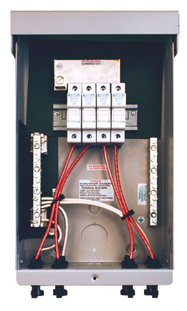 midnite solar pv4 mc4 pre wired combiner box from altEstore.com midnite solar pv4 mc4 pre wired combiner box alte solar fuse box at gsmportal.co