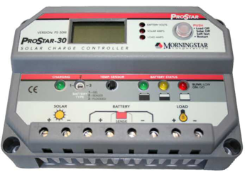 Morningstar ProStar PS-30M 30A, Charge Controller with Display (12/24V)
