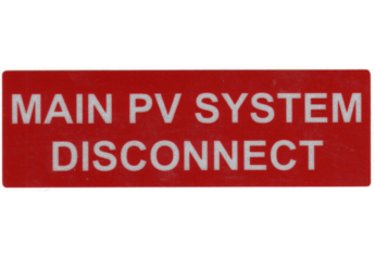 NEC 2011 Compliant Label: Main PV System Disconnect Label
