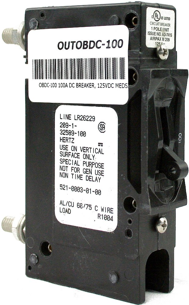 Schneider Electric 100A Surface Mount Circuit Breaker 1P 125VDC