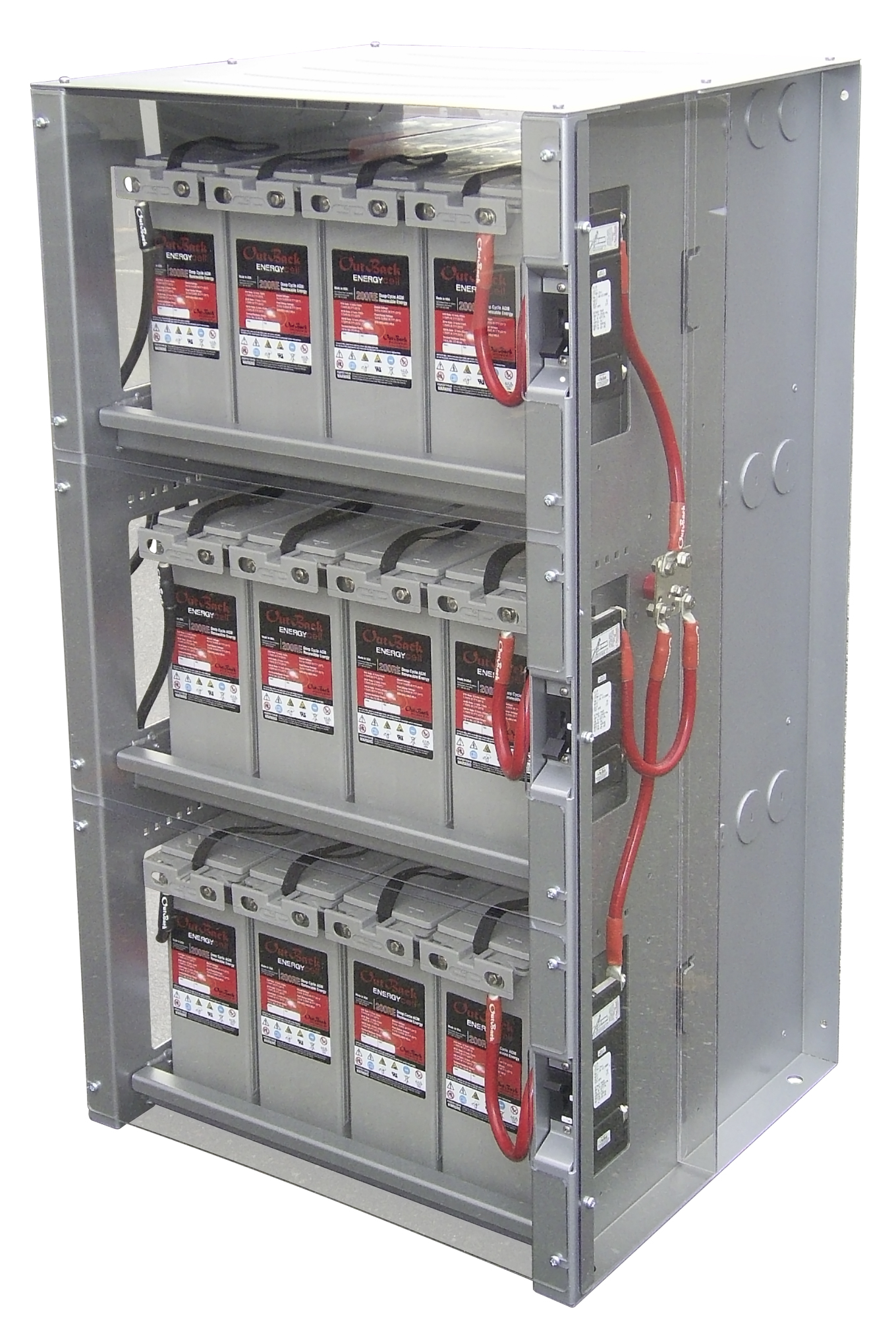 Electrical Wire Rack System | Outback Power 3 Shelf Integrated Battery Rack For 48v Systems Alte