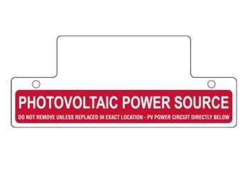 Nec 2011 Compliant Label Photovoltaic Power Source Alte