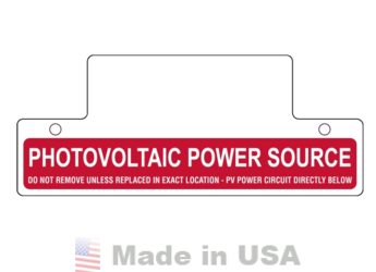 Nec 2011 Compliant Label Photovoltaic Power Source