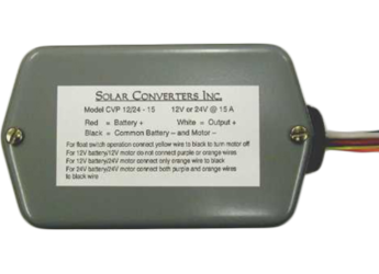 Solar Converters CV12/48-1PV, 12V solar panel to 48V battery charger, 1A