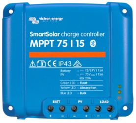 Victron Energy Smart Solar MPPT Charge Controller 75V 15A, Bluetooth Built-in
