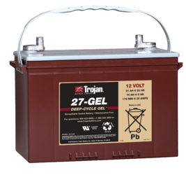 Trojan 27-GEL 12V, 91AH (20HR) Gel Battery, Group 27