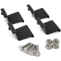 IronRidge XR End Clamp Kit (4 Pack) A - Black