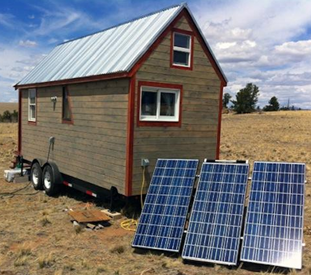 Tiny House 1200 Watt Solar Power System Medium Base Kit Alte How To Hook Up A Panel Living Of The Grid Electronic
