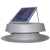 Natural Light 10 Watt Solar Attic Fan - Gray