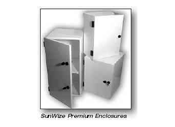 Sunwize 4 (2+2) Battery Enclosure, Hinged Cover