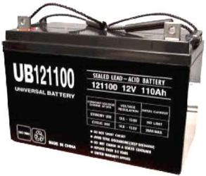 Universal Ub121000 12V, 100Ah (20Hr) Sealed Agm