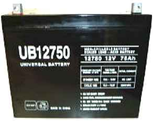 Universal Ub12750 12V, 75Ah (20Hr) Sealed Agm Batt