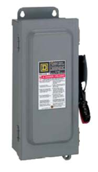 Square D D222NRB 60A Fusable AC Disconnect 2 pole