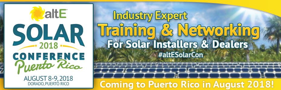 Puerto Rico Solar Conference Aug 2018