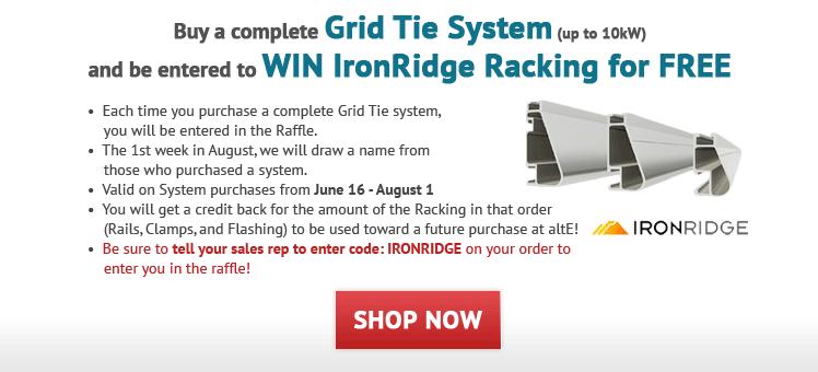 Win Free IronRidge Racking