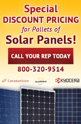 Special Discount Pricing for Pallets of Solar Panels!