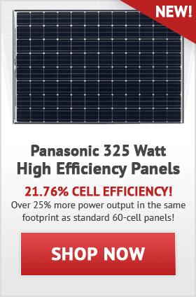 Panasonic 325 Watt Solar Panels!