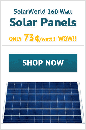 SolarWorld 260 Watt Solar Panels!