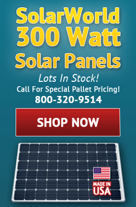 SolarWorld 300 Watt Solar Panels!
