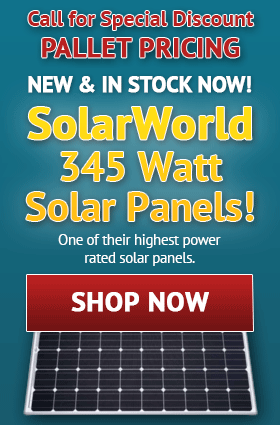 SolarWorld 345 Watt Solar Panels!